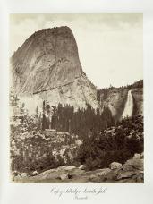 Carlton E. Watkins; Cap of Liberty and Nevada Fall, Yosemite; c.1876; albumen silver print from glass negative; The Metropolitan Museum of Fine Art