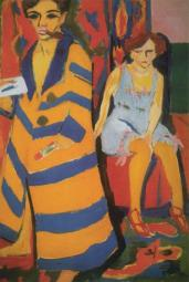 Ernst Ludwig Kirchner; Self Portrait with Model; 1907; 150.5 x 100 cm; Kunsthalle, Hamburg, Germany