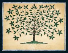 Hannah Cohoon; Gift Drawing: The Tree of Light or Blazing Tree; 1845; ink, pencil, and gouache on paper; American Folk Art Museum