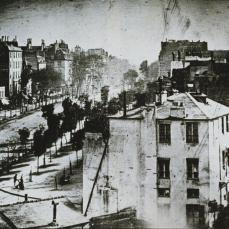 Louis Jaques Mandé Daguerre; View of the Boulevard du Temple, Paris (2nd view taken on same day); 1839; daguerrotype