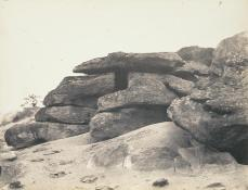 Eugène Cuvelier; Sables de Macherin (Blocks of Sandstone); c.1860; 19.69 x 26.04 cm; San Francisco Museum of Modern Art