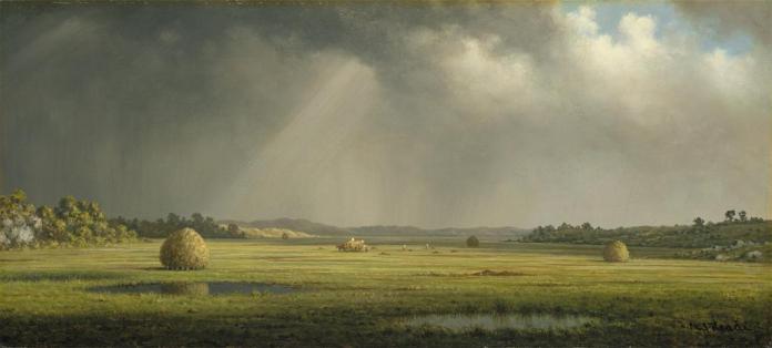 Martin Johnson Heade; Newburyport Meadows; c.1876-81; oil on canvas; 26.7 x 55.9 cm; The Metropolitan Museum of Art