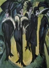 Ernst Ludwig Kirchner; Five Woman in the Street; 1913; oil on canvas