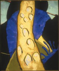 Arthur Garfield Dove; Walk: Poplars or Poplar Tree; c.1912-3; pastel on linen; Terra Museum of American Art