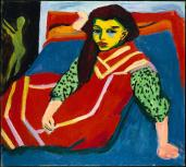 Ernst Ludwig Kirchner; Seated Woman; 1910-20; oil on canvas; The Minneapolis Institute of Arts