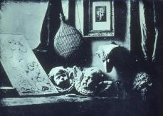 Louis Jaques Mandé Daguerre; Still-lige; 1837; daguerrotype