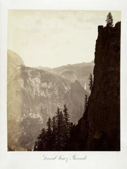 Carlton E. Watkins; General View of Yosemite; c.1876; albumen silver print from glass negative; The Metropolitan Museum of Fine Art