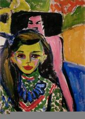 Ernst Ludwig Kirchner; Franzi in a Carved Chair; 1908-9; Museo Thyssen-Bornemisza