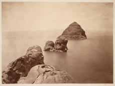 Timothy H. O'Sullivan; Pyramid Lake, Nevada; 1868; albumen print; 19.8 x 20 cm; George Eastman House, Rochester, NY