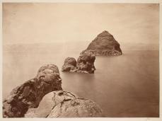 Timothy H. O'Sullivan; Pyramid Lake, Nevada; 1868; albumen print; 19.8 x 20 cm; George Eastman House, Rochester, NY