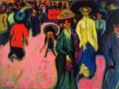 Ernst Ludwig Kirchner; Street, Dresden; 1908 (reworked in 1919, dated on painting 1907); oil on canvas; 150.5 x 200.4 cm; The Museum of Modern Art
