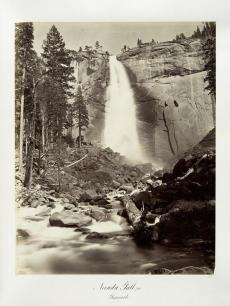 Carlton E. Watkins; Nevada Fall, 700 feet, Yosemite; c.1876; albumen silver print from glass negative; The Metropolitan Museum of Fine Art