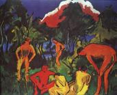 Ernst Ludwig Kirchner; Nudes in the Sun; 1910; oil on canvas