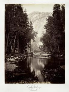 Carlton E. Watkins; Eagle Point, 4000 feet, Yosemite; c.1876; albumen silver print from glass negative; The Metropolitan Museum of Fine Art
