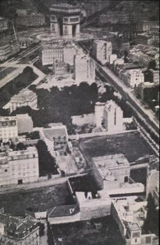 Félix Nadar; Aerial View of the Etoile District of Paris