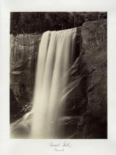 Carlton E. Watkins; Vernal Falls, 350 Feet, Yosemite; c.1876; albumen silver print from glass negative; The Metropolitan Museum of Fine Art
