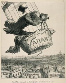 Honoré Daumier; Nadar Elevant la Photographie a la hauteur de l'Art; 1862; lithograph; George Eastman House, Rochester, NY