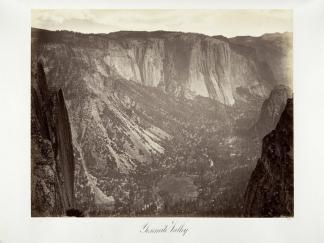 Carlton E. Watkins; Yosemite Valley; c.1876; albumen silver print from glass negative; The Metropolitan Museum of Fine Art