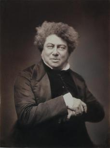 Félix Nadar; Alexandre Dumas; 1855; salt print from wet collodion negative; The Cleveland Museum of Art, Ohio