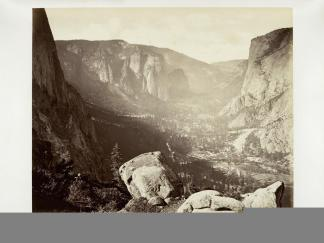 Carlton E. Watkins; Yosemite Valley from Union Point; c.1876; albumen silver print from glass negative; The Metropolitan Museum of Fine Art