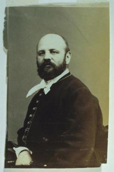 André Adolphe Eugène Disdéri; Self-Portrait of Disdéri; c.1870; albumen print; 9.8 x 6 cm; Fine Arts Museum of San Francisco