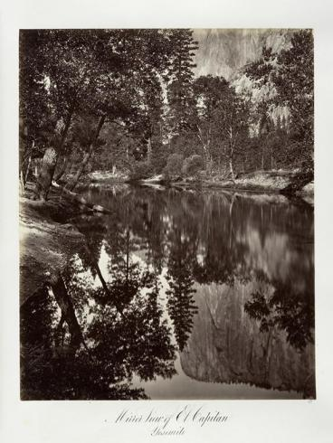 Carlton E. Watkins; Mirror View of El Capitan, Yosemite; c.1876; albumen silver print from glass negative; The Metropolitan Museum of Fine Art