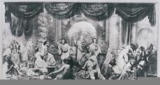 Oscar Rejilander; Two Ways of Life; 1858; gelatin silver print; 41.0 x 79 cm; George Eastman House, Rochester, NY