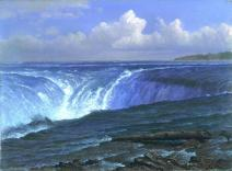 Albert Bierstadt; Niagara Falls; 1869; oil on canvas; 36.2 x 48.9 cm; Fine Arts Museum of San Francsisco
