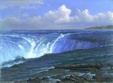 Albert Bierstadt; Niagara Falls; 1869; oil on canvas; 36.2 x 48.9 cm; Fine Arts Museum of San Francsisco