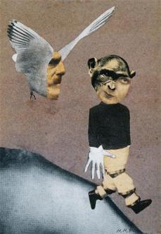 Hannah Höch; Flight (Flucht); 1931; 23 x 18.4 cm; Institut für Auslandbeziehungen