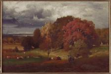 George Inness; Autumn Oaks; 1875; 21 1/8 x 30 1/4 inches