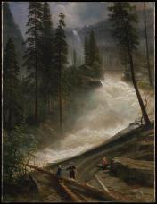 Albert Bierstadt; Nevada Falls, Yosemite; 1872-3; oil on canvas; 76.2 x 99.1 cm; The Metropolitan Museum of Art