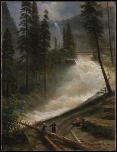 Albert Bierstadt; Nevada Falls, Yosemite; 1872-3; oil on canvas; 76.2 x 99.1 cm; The Metropolitan Museum of Art