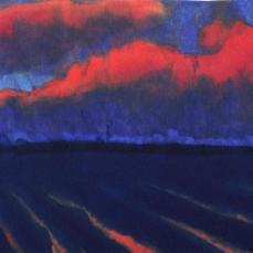 Emil Nolde; Evening Landscape, N. Friesland; watercolor; 33.3 x 47.1 cm