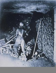 Félix Nadar; Catacombs, Paris; c.1861
