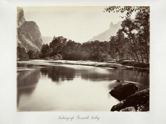 Carlton E. Watkins; Looking Up Yosemite Valley; c.1876; albumen silver print from glass negative; The Metropolitan Museum of Fine Art
