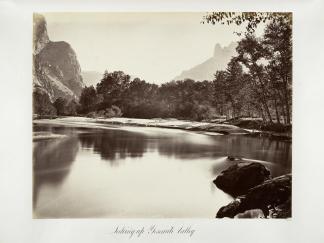 Carlton E. Watkins; Looking Up Yosemite Valley; c.1876; albumen silver print from glass negative; The Metropolitan Museum of Fine Art