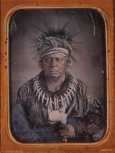 Thomas Easterly; Keokuk or the Watchful Fox; 1847; hand colored quarter plate daguerrotype