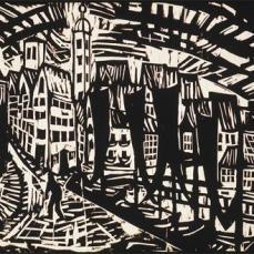 Erich Heckel; Stralsund; 1913; woodcut