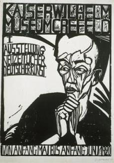 Erich Heckel; First Exhibition of Contemporary German Art; 1920; woodcut; 63.6 x 45.2 cm