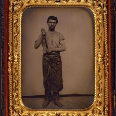 Unidentified; Portrait of a Man with a Hammer; c.1865; George Eastman House, Rochester, NY