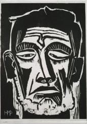 Max Pechstein; Fisherman; 1922; woodcut; 40 x 29.7 cm