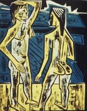 Max Pechstein; Dialogue; 1920; woodcut