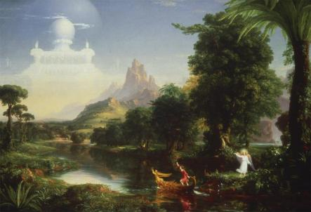 Thomas Cole; Voyage of Life: Youth; 1842; oil on canvas