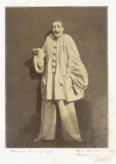 Félix Nadar; Pierrot Laughing; 1855; gelatin-coated salted paper print; The Metropolitan Museum of Art, New York, NY