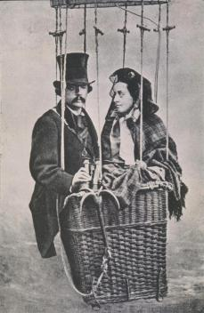 Félix Nadar; Nadar and his Wife in a Balloon Basket
