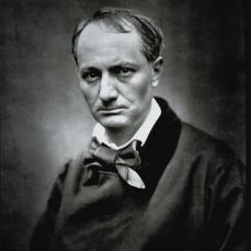 Etienne Carjat; Charles Baudelaire; c.1863; carbon print; 24 x 19 cm