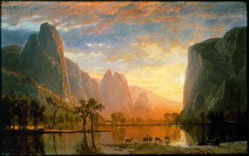 Albert Bierstadt; Valley of the Yosemite; 1864; oil on paperboard; 30.16 x 48.89 cm; Museum of Fine Arts, Boston