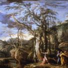 Salvator Rosa; Baptist in the Wilderness; 173 x 260 cm; Glasgow Art and Gallery Museum