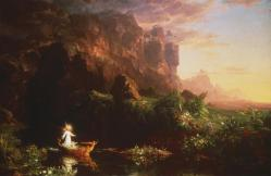 Thomas Cole; Voyage of Life: Childhood; 1842; oil on canvas
